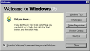 Windows95b welcome