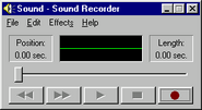 Windows95 soundrecorder