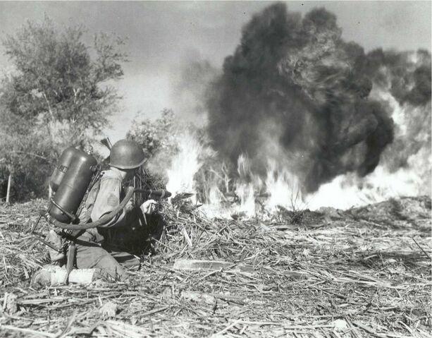 File:US M2 flamethrower, 33rd Infantry.jpg