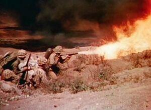 M2 Flamethrower Iwo Jima