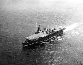USS Cabot, Underway 1945
