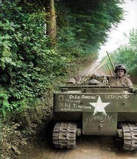 US Engineering M29 Weasel, Normandy 1944