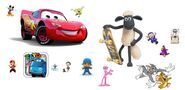 4071f3309c disney pixar cars pocoyo shaun the sheep mr bean cartoon friends