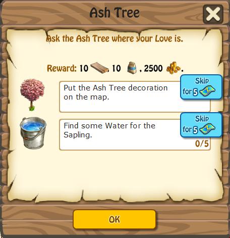 Ash Tree, Task