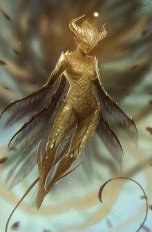 Golden fairy by telthona-d5tap7c
