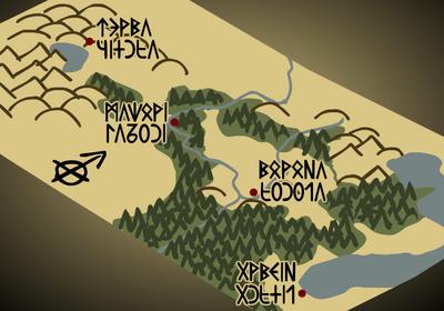 Valelands-map