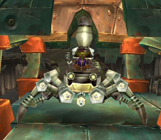 Datei:Gallywix in a spider tank.jpg