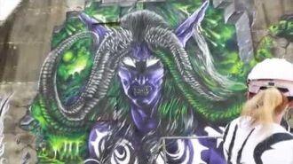 Illidan Mural Creation - Timelapse