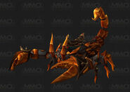 Amber scorpion mount