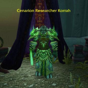 Cenarion Researcher Korrah