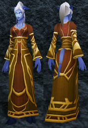 Draenic Silk Robes, Stone Background, Draenei Female