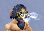 Gnomish X-Ray Specs, Snow Background, Gnome Male