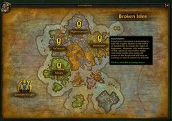 World of Warcraft Legion Guide: Druid Campaign |Class Order Halls Map