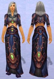 Merlin's Robe, Snow Background, Human Female
