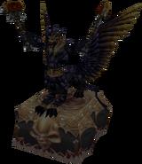 Obsidian statue
