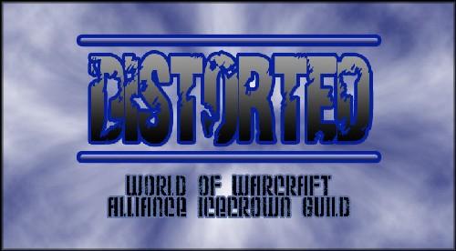 Distorted logo