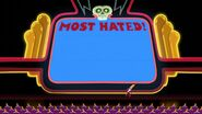 S1e7 Screen saying 'Most Hated!'
