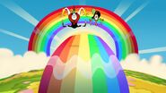 S1e16b Rainbow appears underneath Wander and Hater