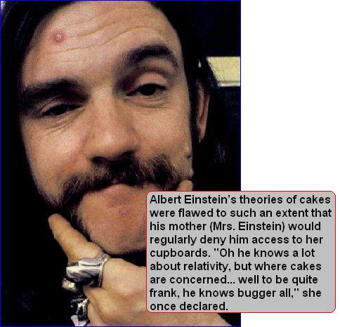 Lemmy explains cake