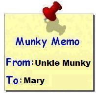 Memo munk to mary