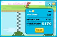 Wubbzy's Silly Speeder Winning Level Screen