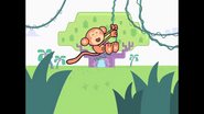 288 Monkey Swinging Across