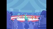 592 Crown Watching Circus Performers Perform