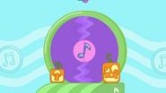 Halloween Record CD Door With Jack-O'-Lanterns