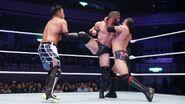 Kira Aries attacking Neville