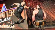 Roman sending a superpunch to Strowman