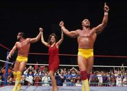 Hulk Hogan and Randy Savage with Eliazbeth
