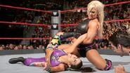 Dana against Bayley Raw
