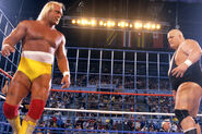 King Kong Bundy against Hulk Hogan at Wrestlemania 2