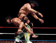 Jimmy Snuka against Rick Rude at WM-VI-6