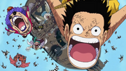 Luffy and the Impel Down Prisoners Diving