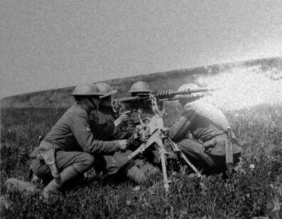 War of USJ (Wyattopian Army machine gun crew)