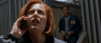 Fox Mulder's practical joke on Dana Scully