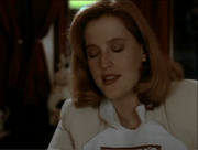 Dana Scully enjoys ribs