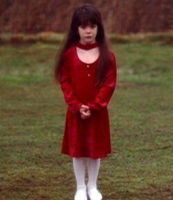 Samantha Mulder standing outside