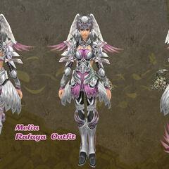 Melia in Rafaga outfit