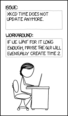 Xkcd1822 otters bug reports