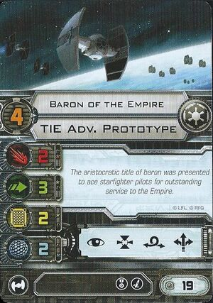 Tie Advanced - Baron of the Empire