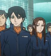 Hoshina and Female Officer Before Yamato Launch