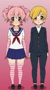 Younge pinku and young kiiro