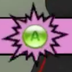The A button for the gamepad.