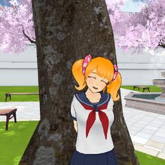 Rival-chan smiling.