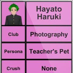 Terceiro perfil de Hayato.