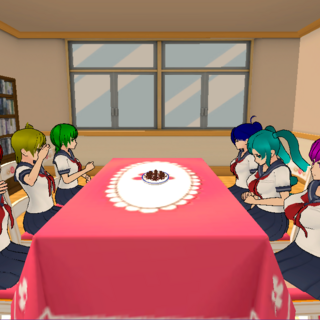 Students in the Cooking Club room. May 7th, 2016.