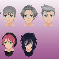 一些學生的頭髮模型