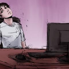 YandereDev at his desk in <a rel=
